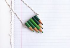 Curly Made: Upcycle Pencils Intro Jewelry // Back to school DIY