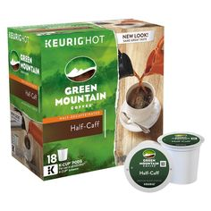Green Mountain Coffee Half-Caff Keurig K-Cup pods 18ct