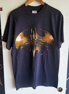 Vintage Batman Forever Logo T-Shirt Men's Large Black Made In USA DC Comics 1995 Riddler By Tee Jays Sof Tee by TheBestNeverRest on Etsy