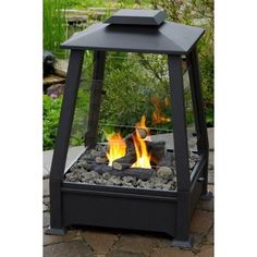 All-Weather Outdoor Patio Fireplace   **no mess & no hassle **