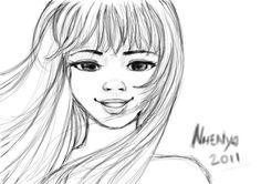 sweet girl portrait sketch