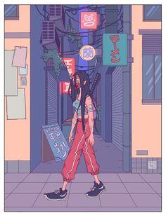 Bertnemmon art inspo in 2019 art, anime art, illustration ar Arte Dope, Dope Art, Aesthetic Anime, Aesthetic Art, Character Illustration, Digital Illustration, Chef D Oeuvre, Psychedelic Art, Pretty Art