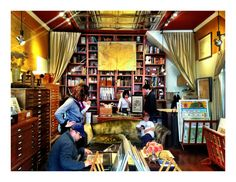 Specializing in antique maps, this store is noted for having especially attentive and knowledgable staff.  http://www.scheinandschein.com
