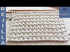 Punto Rejilla Tupido: súper fácil, unisex y reversible, ideal para principiantes (dos agujas) - YouTube Knitting Videos, Loom Knitting, Knitted Blankets, Diy Crafts, Crafty, Youtube, Knitting Patterns, Knitting Sweaters, Craft