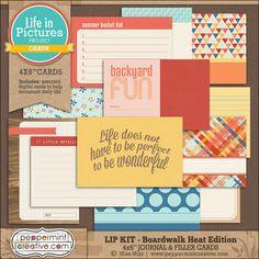 LIP KIT: Boardwalk Heat Edition 4x6 Journal & Filler Cards #projectlife