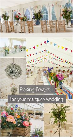 Flowers have a starring role in your wedding day.so get a little inspiration from these marquee wedding flowers. So much to choose from;all beautiful! Marquee Hire, Marquee Wedding, Hanging Decorations, Wedding Decorations, Table Decorations, Wedding Flowers, Wedding Day, Devon And Cornwall, Exeter