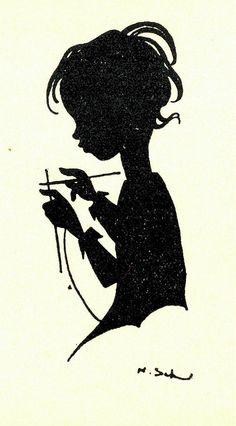 Nora schnitzler, ill  breien silh by janwillemsen, via Flickr