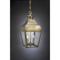 Northeast Lantern Stanfield 2 Light Outdoor Hanging Lantern Finish: Antique Brass, Shade Type: Seedy Marine