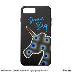 Shop Neon Glow I Dream Big Unicorn Case-Mate iPhone Case created by Joyfulgiftstudio. Samsung Cases, Iphone Cases, Unicorn Iphone Case, Neon Glow, Iphone 8 Plus, Dream Big, Store, Gifts, Tent