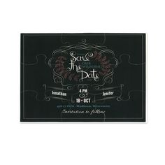 Spice up your Save the Dates by having family and friends solve a special message puzzle