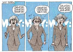 Wrong Unstable Theresa May Political Satire, Political Cartoons, Scum Of The Earth, Uk Politics, Theresa May, Right Wing, Britain, Trust, Identity