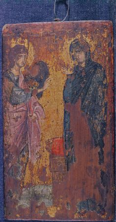 """""""Annunciation,"""" The Sinai Icon Collection, Princeton University Princeton University, Icon Collection, The Originals, Painting, Icons, Art, Art Background, Painting Art, Symbols"""