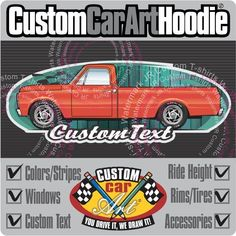 Custom Art Black Hoodie 67-72 GMC Sierra Chevy C-10 Cheyenne Long Pickup truck  #Champion #PersonalizedCustomCarArtHoodie