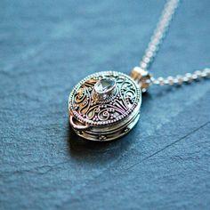 Guardar collares plata esterlina oración caja colgante