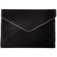 Rebecca Minkoff Leo Clutch (Black 5) ($95) ❤ liked on Polyvore featuring bags, handbags, clutches, rebecca minkoff purse, rebecca minkoff, leather clutches, leather purses and rebecca minkoff handbags