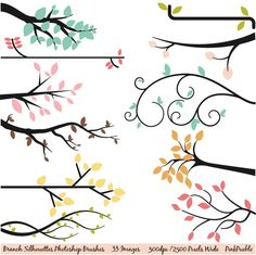 Branch Silhouettes Photoshop Brushes ~~ Our Branch Silhouettes Photoshop Brush set contains 33 high-resolution brushes within a ABR file. The ABR file works with Photoshop CS and above and Elements 4 and above. The brushes are 300 dpi and each 'complete' branch is approximately 2500 pixels wide.…