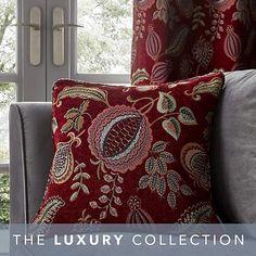 Edina Red Cushion | Dunelm