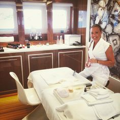 Manicure prep in the spa #manicure #spaatsea #spa #floatingspa #beauty #harmony #France #monaco #montecarlo #kerstinflorian #skincare #opi #essie #nails #yacht #superyacht
