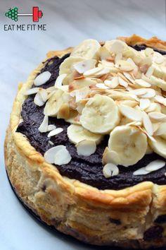 przepis-ciasto-bez-cukru-bez-maki-dietetyczny-sernik-zdrowa-czekoladowa-polewa-daktyle-zurawina-banan2 Healthy Deserts, Healthy Cake, Healthy Cookies, Healthy Sweets, Healthy Baking, Good Food, Yummy Food, Sweet Recipes, Food To Make