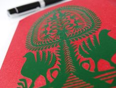 Leluja - traditional Kurpie cutout refers to the tree of life, which perfectly fits in with the Easter symbolism. Easter Season, Hand Engraving, Tree Of Life, Paper Cutting, Symbols, Traditional, Decoration, Handmade, Decor