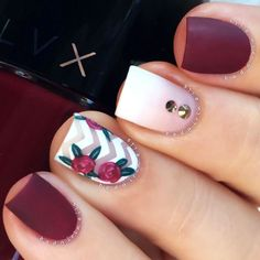Maroon is totally in fashion nowadays. And there are several reasons for that. The best part about maroon nails is that it fits basically any skin tone. Also, there is a ton of designs to match this color and bring out its full potential. #nails #nailart #naildesign #nailscolor