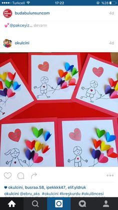 Muttertag Vatertag Geschenk Herz The Effective Pictures We Offer You About Mothers Day Crafts for Ki Valentine's Day Crafts For Kids, Mothers Day Crafts, Art For Kids, Diy And Crafts, Paper Crafts, Stick Crafts, Diy Valentines Cards, Valentine Crafts For Kids, Holiday Crafts