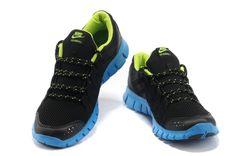 Mens Nike Free Powerlines Netz Schwarz Blau Grun
