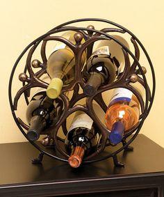 Look at this #zulilyfind! Metal Circle Man Wine Holder #zulilyfinds