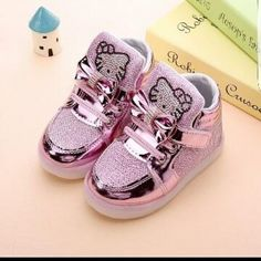e3100be6949 Girls shoes baby Fashion Hook Loop led shoes kids light up glowing sneakers  little Girls princess children shoes with light 889