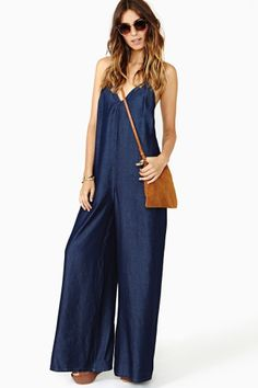 Rhapsody Chambray Jumpsuit by Nasty Gal