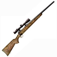 Savage 11 Trophy Predator Hunter Bolt Action Rifle .243 Winchester 22 Barrel 4 Rounds Mossy Oak Brush Camo Synthetic Stock Matte Finish with Nikon 3-9x40 Scope 22215