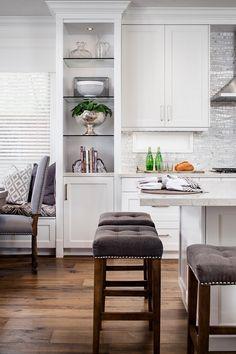 Kitchen Cabinet with Glass Shelves. Kitchen Cabinet with Glass Shelves. #KitchenCabinet #GlassShelves open-kitchen-cabinet Tracy Lynn Studio