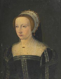 Circle of François Clouet PORTRAIT OF A LADY  clouet, françois portrait | portrait - female | sotheby's l16030lot8t9wten