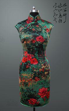 Silk QiPao Dress by ChinaRedDragon on Etsy, $280.00