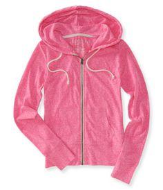 Girls Hoodies - Full Zip & Popover Hoodies | Aeropostale light weight jacket