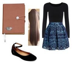 """""""School Outfit #1"""" by babytoothless ❤ liked on Polyvore featuring Maje and Steve Madden"""