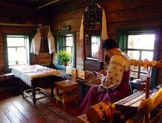 reconstructed Russian peasant house