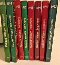 Lot of 8 SOUTHERN LIVING Annual Recipe Cook Books Vintage 1980 1990s Hardcovers
