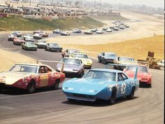 NASCAR back in the day. Wow... dig those birds :).        This is from the Riverside CA. road course. It is now condos and a shopping mall I believe.