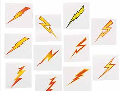 Harry Potter party favors - lightning bolt tattoos