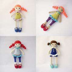 PDF Cute dolls MarineAddy Adeline Crochet by DuduToyFactory