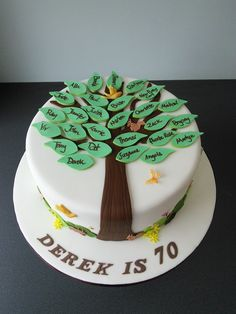 70th birthday cake, friendship tree