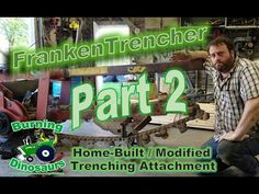 Machining Fabricating Build Montage Home Made Trencher for Farm Tractor 3-Point and PTO - YouTube Tractor Accessories, Tractors, Building, Youtube, Buildings, Youtubers, Construction, Youtube Movies