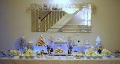 Winter wonderland dessert table
