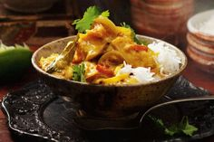 This dish offers mild South Indian spice with a sour kick of tamarind. Fish Dishes, Seafood Dishes, Seafood Recipes, Cooking Recipes, Dinner Recipes, Chef Recipes, Spicy Recipes, Cooking Ideas, Dinner Ideas