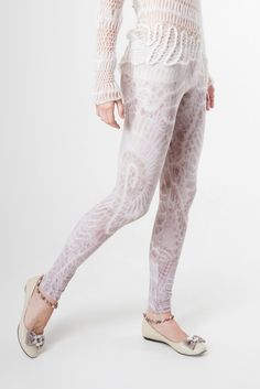 Knitted Leggings. $55.00, via Etsy.
