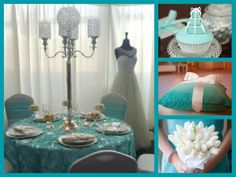 Tiffany theme wedding Tiffany Blue Party, Tiffany Theme, Breakfast At Tiffanys, Color Combinations, Favorite Color, Table Decorations, Black And White, Wedding, Inspiration