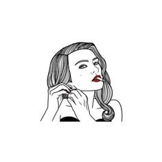 Hope u guys love it We Heart It ❤ liked on Polyvore featuring fillers, drawings, girls and outline