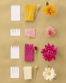 Flores de papel crepe  @Martha Stewart Living