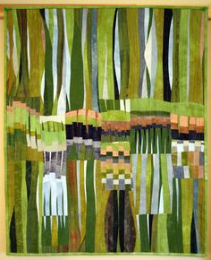 Art quilt abstract quilt fiber art wall hanging by marytequilts